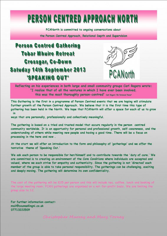 Person Centred Gathering: PCANorth